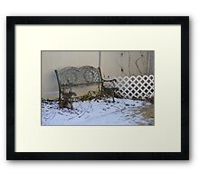 The 'Almost' Bench  Framed Print