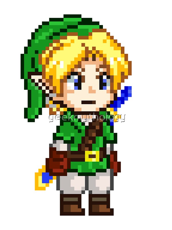 Quot Legend Of Zelda Link Pixel Quot Art Prints By Geekmythology