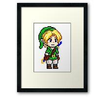 Legend of Zelda - Link Pixel Framed Print