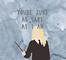 Luna Lovegood & Quote by emziiz