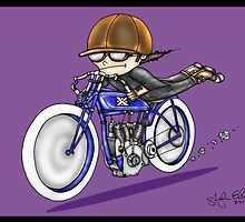 MOTORCYCLE EXCELSIOR STYLE (purple) by squigglemonkey