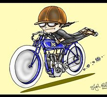 MOTORCYCLE EXCELSIOR STYLE (yellow) by squigglemonkey
