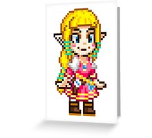 Skyward Sword - Zelda Pixel Greeting Card