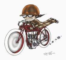 MOTORCYCLE EXCELSIOR STYLE (RED BIKE) by squigglemonkey