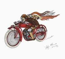 STEAMPUNK INDIAN STYLE MOTORCYCLE T SHIRT by squigglemonkey