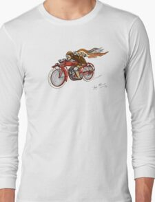 STEAMPUNK INDIAN STYLE MOTORCYCLE T SHIRT Long Sleeve T-Shirt