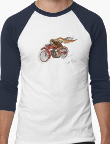 STEAMPUNK INDIAN STYLE MOTORCYCLE T SHIRT Men's Baseball ¾ T-Shirt