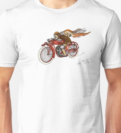 STEAMPUNK INDIAN STYLE MOTORCYCLE T SHIRT Unisex T-Shirt