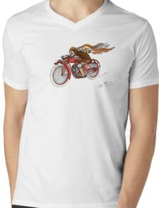 STEAMPUNK INDIAN STYLE MOTORCYCLE T SHIRT Mens V-Neck T-Shirt