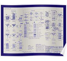 Mixologists' Blueprint Poster