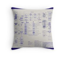 Mixologists' Blueprint Throw Pillow