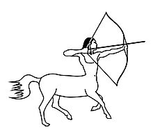 Centaur Archer Photographic Print