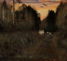 Along the Path at Dusk by Scott Mitchell