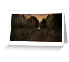 Along the Path at Dusk Greeting Card