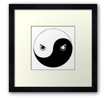 Yin Yang Ninja Framed Print