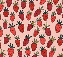 Sweet Strawberry Pattern by Emily Ryan