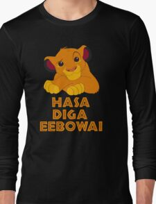 Hasa Diga Eebowai Lion King Long Sleeve T-Shirt