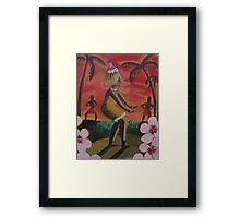 tiki girl dancer Framed Print