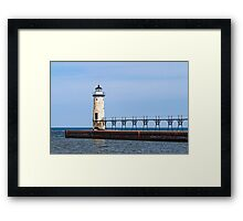 The Lighthouse at Manistee Framed Print