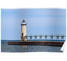 The Lighthouse at Manistee Poster