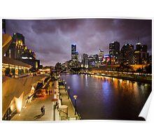 Yarra River at Night Poster