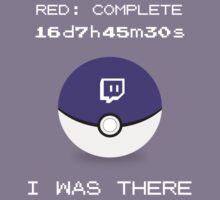 Twitch Plays Pokemon: I Was There - Dark with White Text by Twitch Plays Pokemon