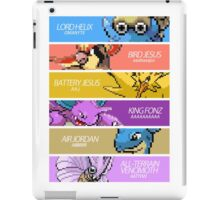 Twitch Plays Pokemon - The Team (with Text) iPad Case/Skin