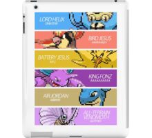 Twitch Plays Pokemon - The Final Team (with Text) iPad Case/Skin