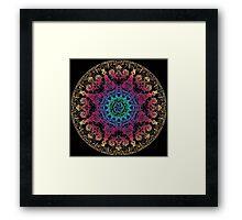 Bliss Energy Yoga Chakra Mandala Framed Print