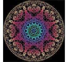 Bliss Energy Yoga Chakra Mandala Photographic Print