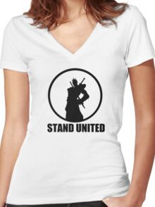Stand United Women's Fitted V-Neck T-Shirt