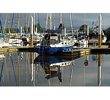 Blue hulls in the morning, Launceston harbour Photographic Print
