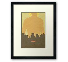 City of Bones Minimalist Cover Framed Print