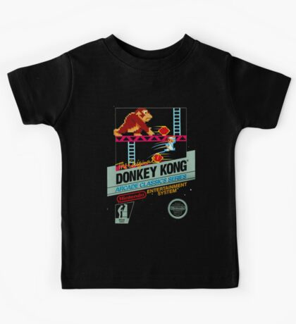 nes donkey kong Kids Tee
