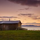 Shed on the Waterfront, Gordon, Tasmania by Chris Cobern