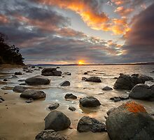 Taroona Beach Sunrise, Tasmania #15 by Chris Cobern