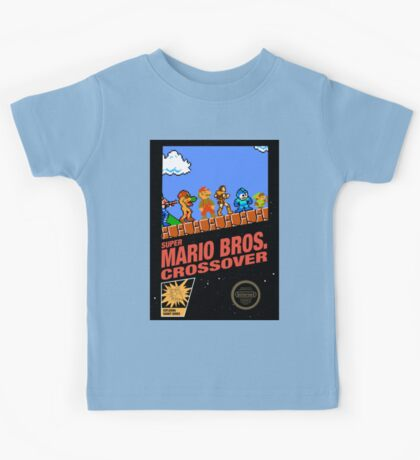 mario bros crossover Kids Tee