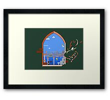Our Hero Approaches (Green Background) Framed Print