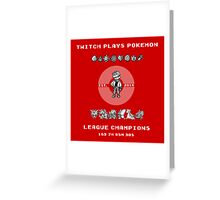 Twitch Plays Pokemon Champions Greeting Card