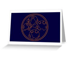 Wibbly Wobbly Timey Wimey - Gallifreyan Greeting Card