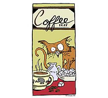 "Dirk Strangely's ""Cats and Sweets"" COFFEE BUZZ Photographic Print"
