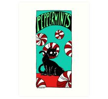"""Dirk Strangely's """"Cats and Sweets"""" PEPPERMINTS Art Print"""