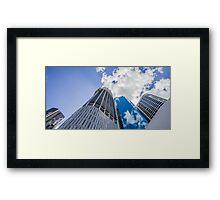 Blue Sky Scrapers Framed Print