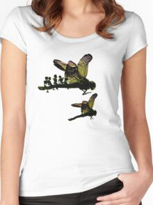 surreal ladybugs Women's Fitted Scoop T-Shirt