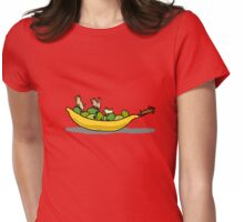 Dogs on dishes Womens Fitted T-Shirt