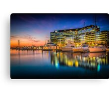 Docklands Reflections Canvas Print