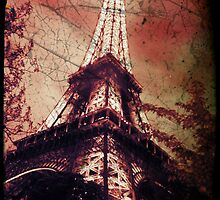 Eiffel Tower, Red by LLStewart