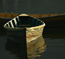 wooden boat by johnkimages