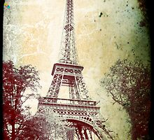 Vintage effect Eiffel Tower,  by LLStewart