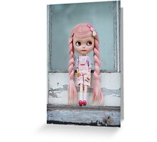 Window to the pink soul Greeting Card